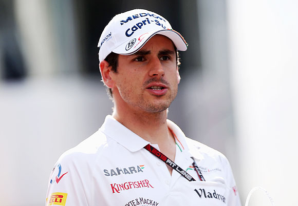 Adrian Sutil of Germany and Force India