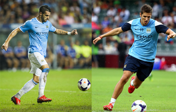 The Manchester City pair of Alvaro Negredo and Stevan Jovetic