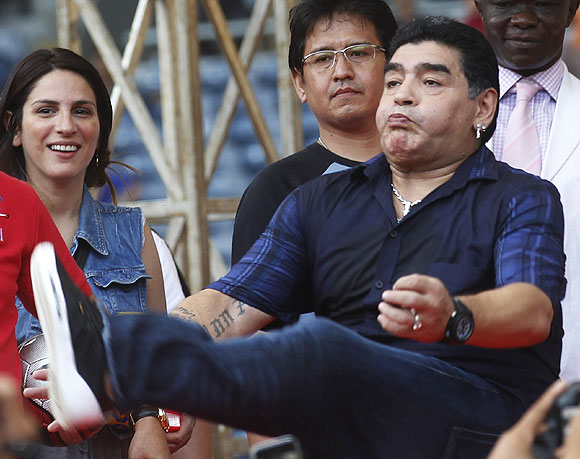 Argentina soccer legend Diego Maradona