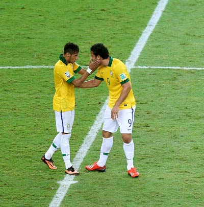 Neymar and Fred