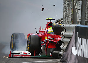 Felipe Massa of Brazil and Ferrari in action