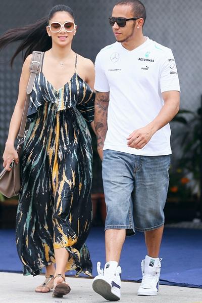 Lewis Hamilton and his girlfriend Nicole Scherzinger