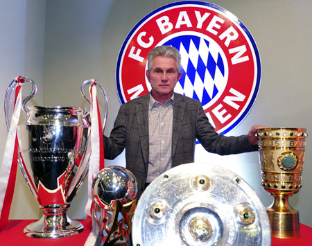 Rediff Sports - Cricket, Indian hockey, Tennis, Football, Chess, Golf - Treble-winning Bayern coach Heynckes takes time out