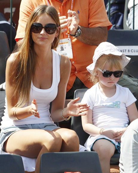 Ester Satorova (left) girlfriend of Tomas Berdych of the Czech Republic