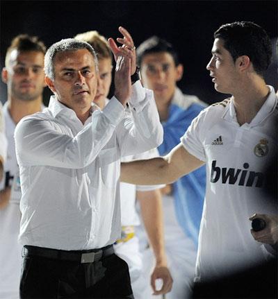 Jose Mourinho with Cristiano Ronaldo
