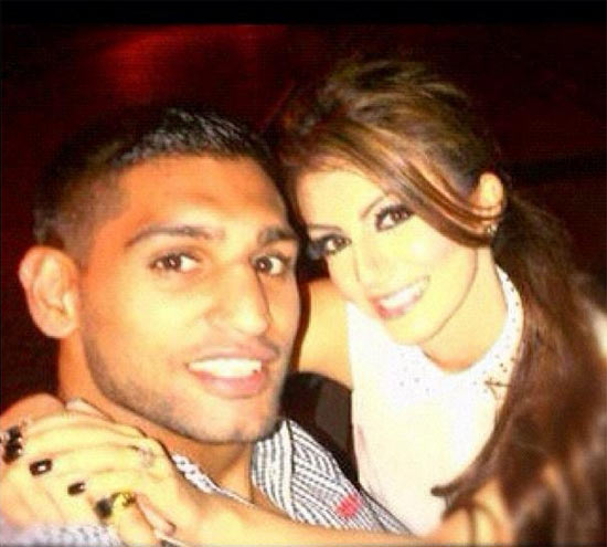 Faryal Makhdoom with Amir Khan