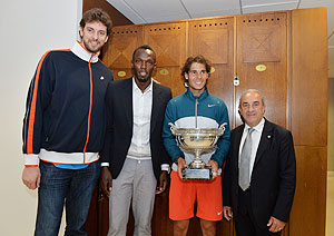 Nadal with Bolt and Gasol