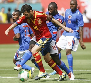 Spain hold on for friendly win over Haiti