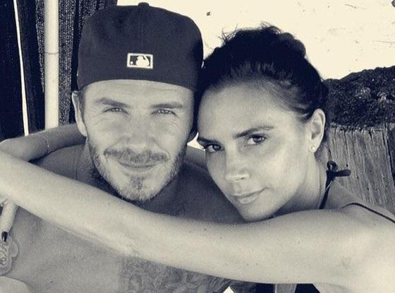 Victoria Beckham with David Beckham