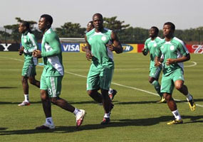 Rediff Sports - Cricket, Indian hockey, Tennis, Football, Chess, Golf - Nigeria's football team go on strike, miss plane to Brazil