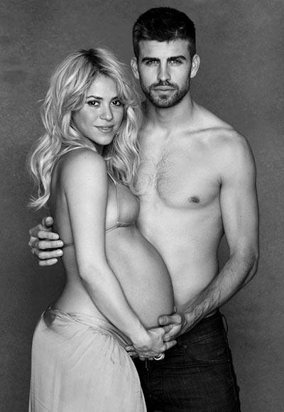 Shakira with beau Gerard Pique