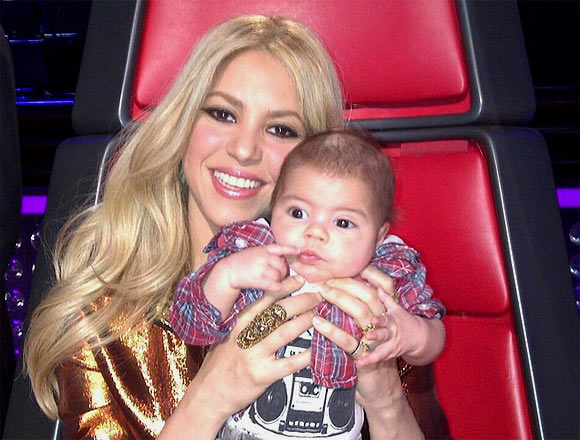 Shakira with son Milan