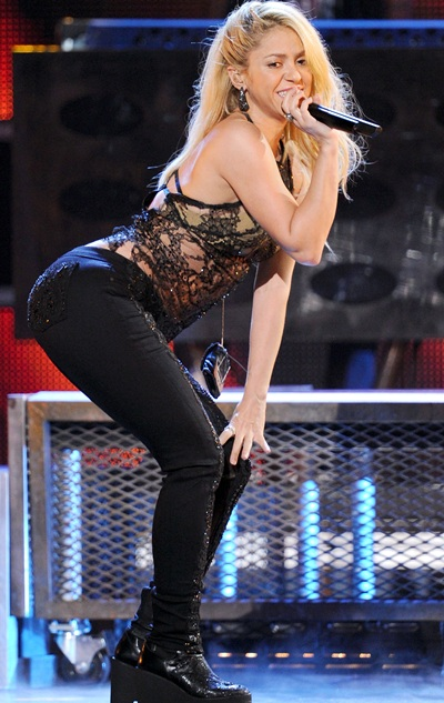 Singer Shakira performs onstage during the 12th annual Latin GRAMMY Awards
