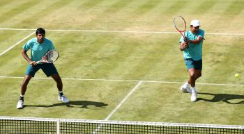 Rediff Sports - Cricket, Indian hockey, Tennis, Football, Chess, Golf - Bhupathi-Bopanna crashes out of Aegon C'ships