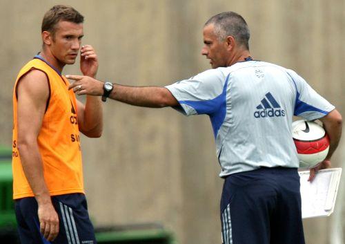 Andriy Shevchenko and Jose Mourinho