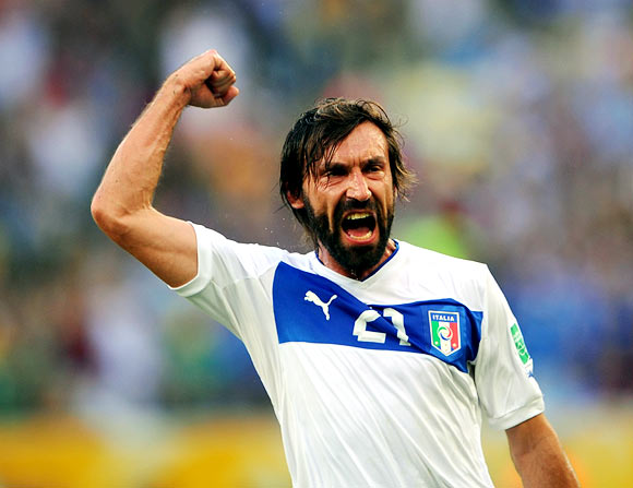 Rediff Sports - Cricket, Indian hockey, Tennis, Football, Chess, Golf - Italian veteran Pirlo shows Brazil what they are missing