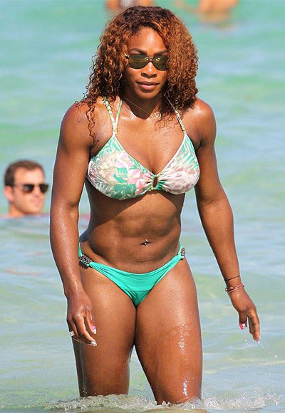Rediff Sports - Cricket, Indian hockey, Tennis, Football, Chess, Golf - Serena Williams shows off bikini body on holiday