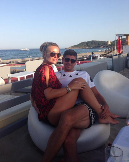 Alex Gerrard with husband Steven