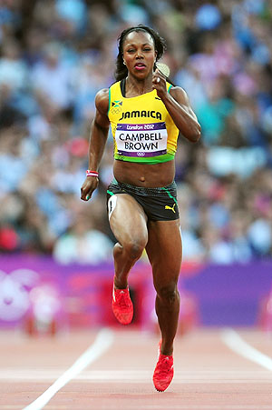 Veronica Campbell-Brown of Jamaica