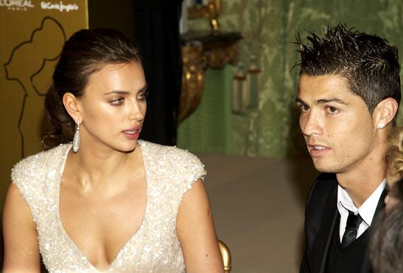 Irina Shayk with Cristiano Ronaldo