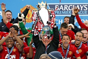 Manchester with the EPL trophy