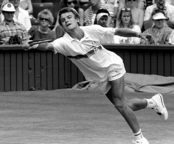 Swedish tennis star Mats Wilander at Wimbledon