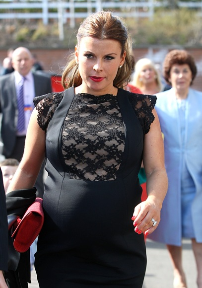 Coleen Rooney attends the Grand National Day