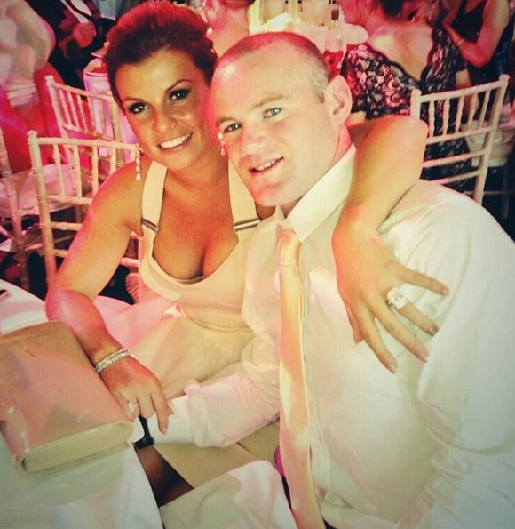 Coleen Rooney with Wayne