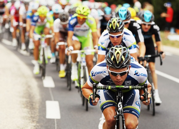 Brett Lancaster of Australia and Orica Greenedge in action