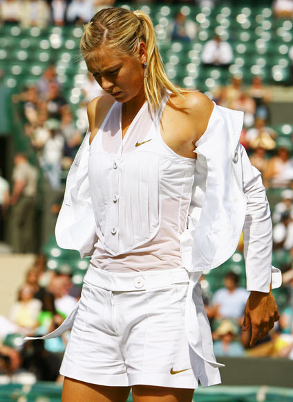 Maria Sharapova during the 2004 Wimbledon