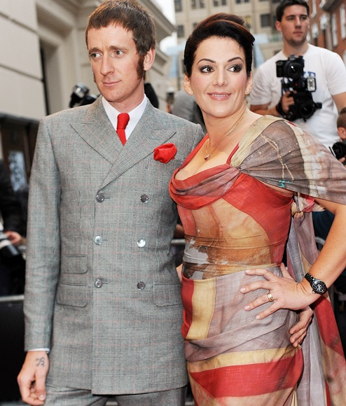 Bradley Wiggins with wife Catherine Wiggins attends the GQ Men of the Year Awards
