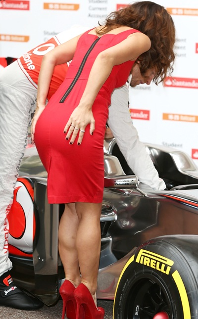 Myleene Klass and Jenson Button attends a photocall
