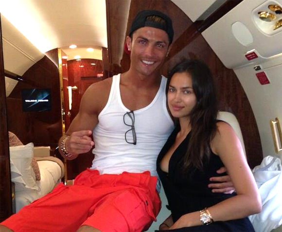Real Madrid's Cristiano Ronaldo and his girlfriend   Irina Shayk