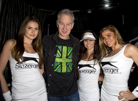John McEnroe attends a party in London