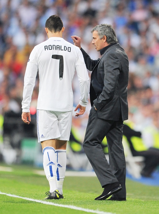 Jose Mourinho with Ronaldo