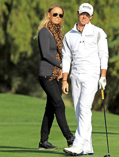 Rory McIlroy with his girlfriend Carol