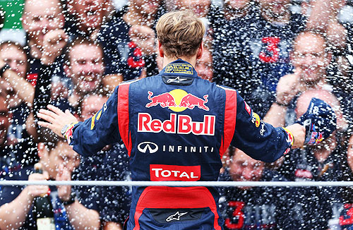 Sebastian Vettel of Germany and Red Bull