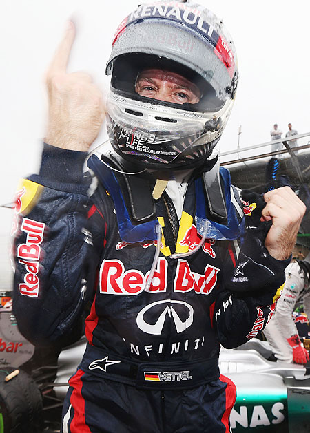 Sebastian Vettel of Germany and Red Bull Racing