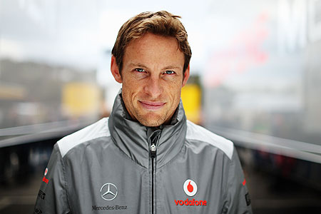 Jenson Button of Great Britain and McLaren poses for a photograph