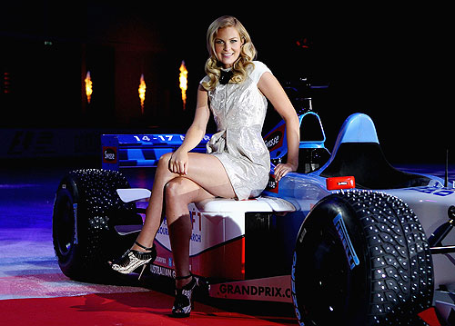 Chelsea Scanlan, Ambassador of Formula 1 poses for photos during the 2013 Australian F1 Grand Prix Launch in Melbourne, Australia