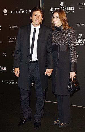 PSG's Sports Director Leonardo (left) with partner Anna Billo