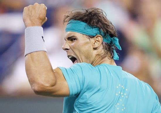 Rafael Nadal of Spain celebrates