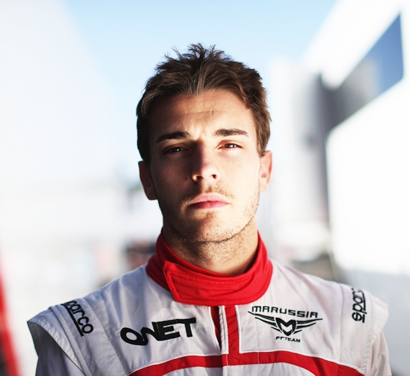 Jules Bianchi of France and Marussia poses