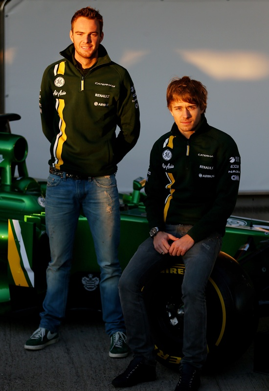 Giedo van der Garde of Netherlands and Caterham and Charles Pic of France