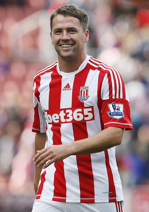 Stoke City's Michael Owen smiles