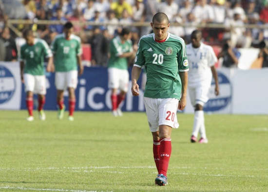 Mexico's Jorge Torres Nilo leaves the field