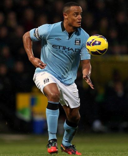 Manchester City defender Vincent Kompany