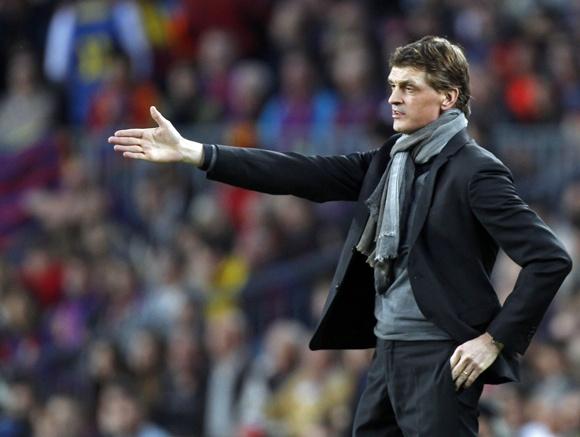 Barcelona's coach Tito Vilanova