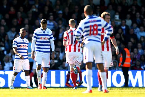 Dejected QPR players