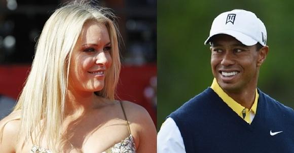 US skier Lindsey Vonn and Tiger Woods